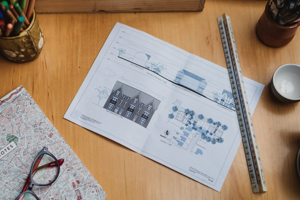 town planner's desk